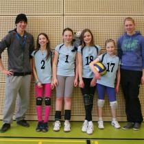 die jüngsten Volleyballerinnen sehr erfolgreich